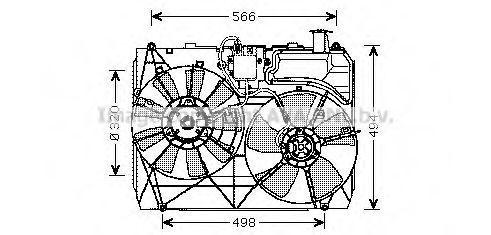 Вентилятор, охлаждение двигателя AVA TO7534
