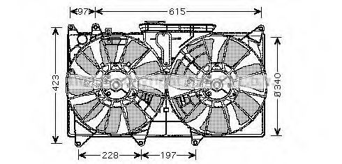 Вентилятор, охлаждение двигателя AVA TO7535