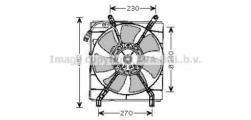 Вентилятор, охлаждение двигателя AVA TO7537
