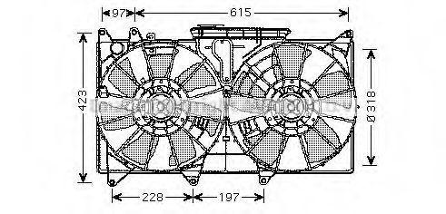 Вентилятор, охлаждение двигателя AVA TO7544