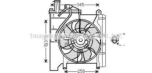 Вентилятор, охлаждение двигателя AVA TO7552