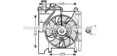 Вентилятор, охлаждение двигателя AVA TO7553