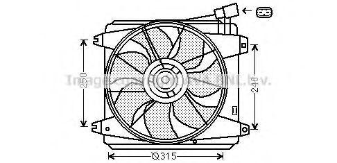 Вентилятор, охлаждение двигателя AVA TO7554