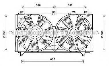 Вентилятор, охлаждение двигателя AVA TO7613