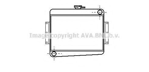 Радиатор, охлаждение двигателя AVA VA2001