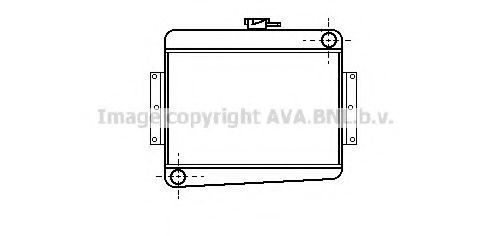 Радиатор, охлаждение двигателя AVA VA2002
