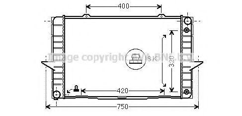 Радиатор охлаждения AVA VO2092