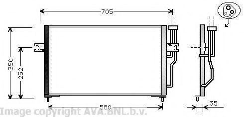 Радиатор кондиционера AVA VO5086