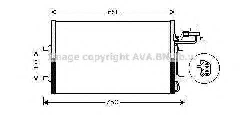 Радиатор кондиционера AVA VO5140