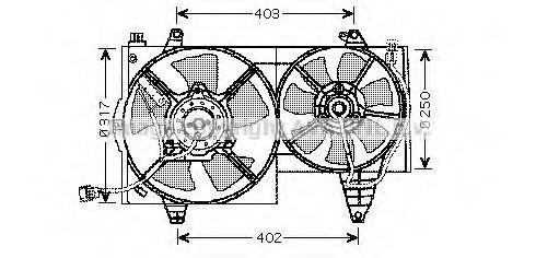 Вентилятор, охлаждение двигателя AVA VO7505