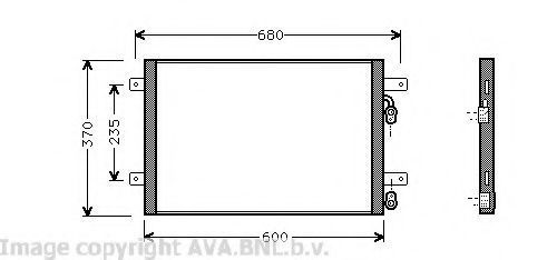 Радиатор кондиционера AVA VW5153