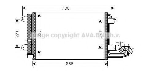 Радиатор кондиционера AVA VW5209D