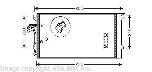 Радиатор кондиционера AVA VW5244