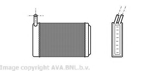 Радиатор отопителя салона AVA VW6061