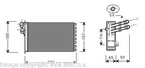 Радиатор отопителя салона AVA VW6173