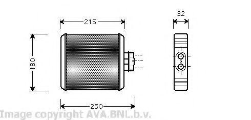 Радиатор отопителя салона AVA VW 6196