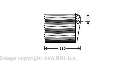 Радиатор отопителя салона AVA VW6229