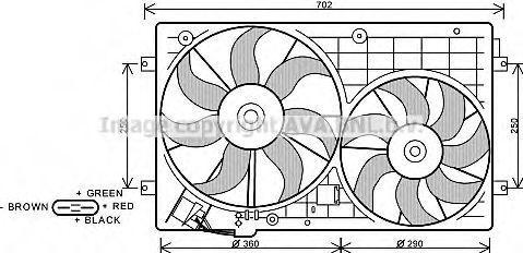 Вентилятор AVA VW7528