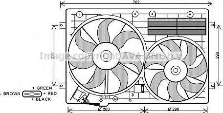 Вентилятор радиатора AVA VW7529