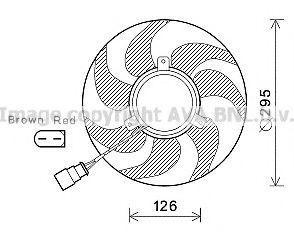 Вентилятор радиатора AVA VW7536