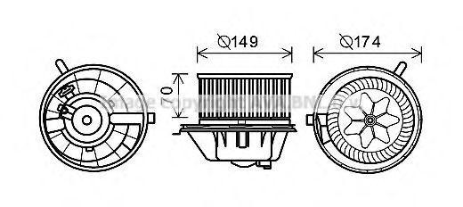 Электродвигатель печки AVA VW8342