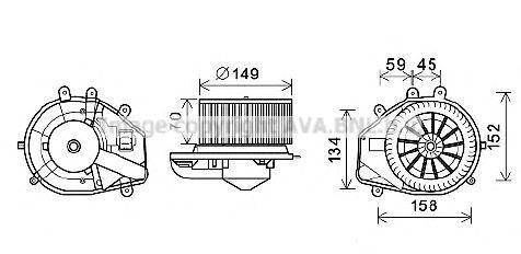 Электродвигатель вентилятора салона AVA VW8352