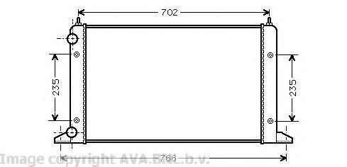 Радиатор охлаждения AVA VWA2133