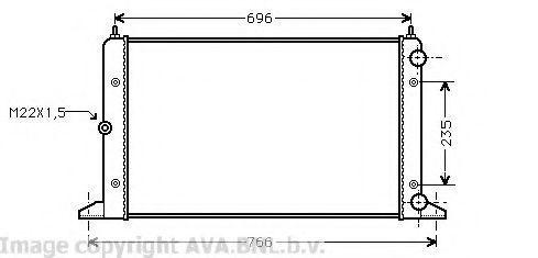 Радиатор охлаждения AVA VWA2134