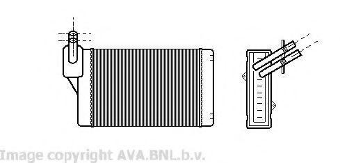 Радиатор отопителя салона AVA VWA6060