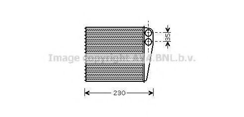 Радиатор отопителя салона AVA VWA6229