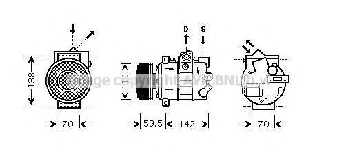 Компрессор кондиционера AVA VWAK220