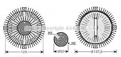 Вентилятор AVA VWC273