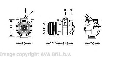 Компрессор кондиционера AVA VWK220