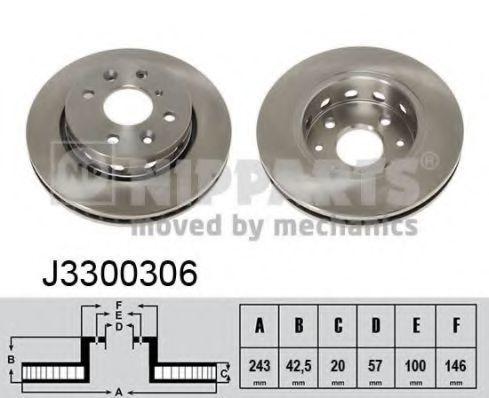 Диск тормозной NIPPARTS J3300306
