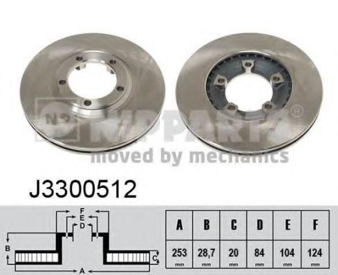 Диск тормозной NIPPARTS J3300512