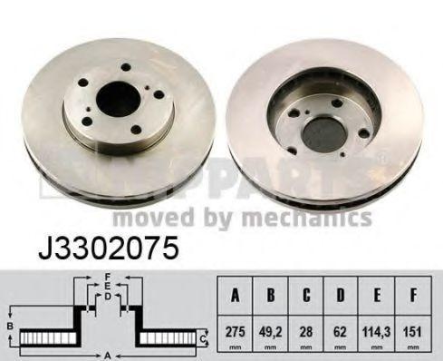 Диск тормозной NIPPARTS J3302075