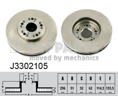 Диск тормозной NIPPARTS J3302105