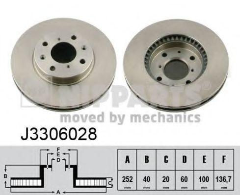 Диск тормозной передний NIPPARTS J3306028