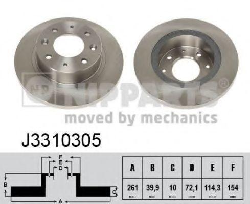Диск тормозной NIPPARTS J3310305