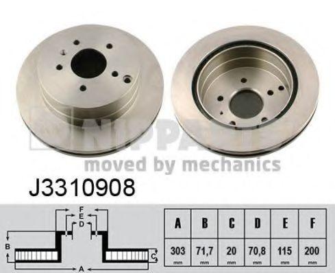 Диск тормозной NIPPARTS J3310908
