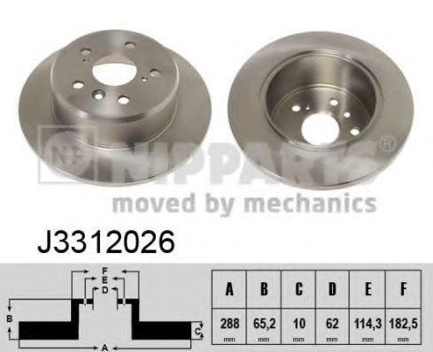 Диск тормозной NIPPARTS J3312026