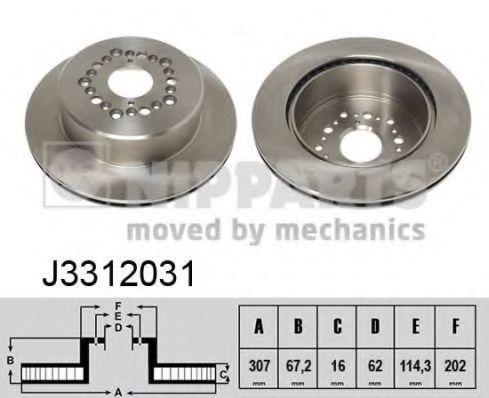 Диск тормозной NIPPARTS J3312031