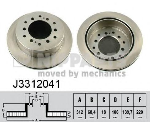 Диск тормозной NIPPARTS J3312041