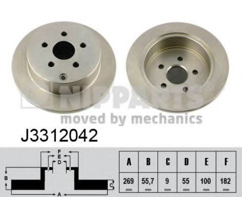 Диск тормозной NIPPARTS J3312042