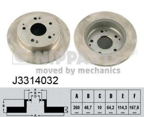 Диск тормозной задний NIPPARTS J3314032