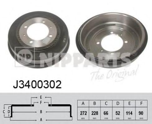 Тормозной барабан NIPPARTS J3400302