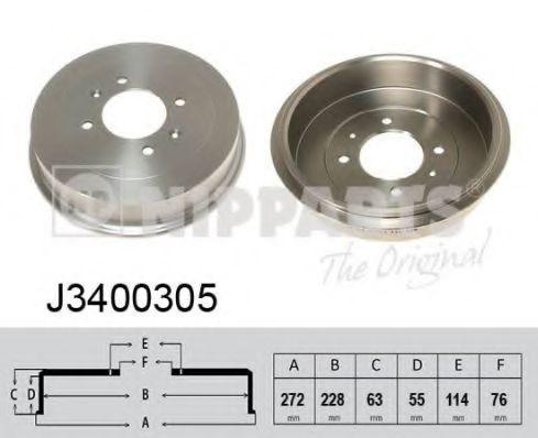 Тормозной барабан NIPPARTS J3400305