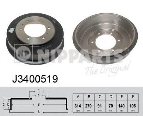 Тормозной барабан NIPPARTS J3400519