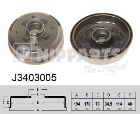 Тормозной барабан NIPPARTS J3403005