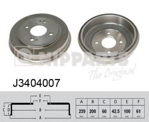Тормозной барабан NIPPARTS J3404007